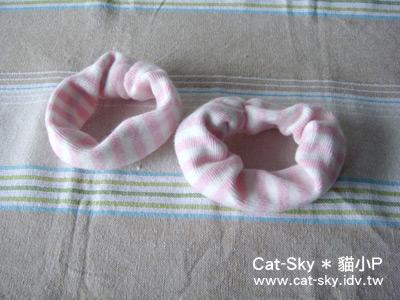 長筒襪變身圈圈髮飾