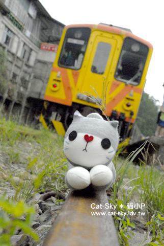 *哇! 火車來嘍~~~~ (貓小P的襪子娃娃)