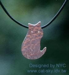 那年2003在Yahoo拍賣上購買的NYC設計師的手工銀飾貓咪項鍊