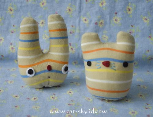 小p的襪子娃娃-小鼠和小兔