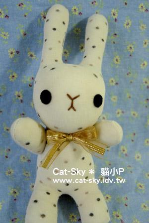 貓小P襪子娃娃-奶茶小兔