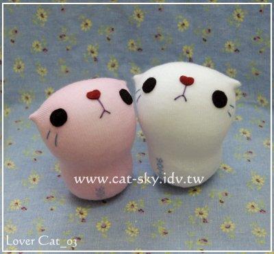 呆呆貓系列-粉嫩版情侶貓娃娃lovercat_03