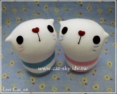 呆呆貓系列-粉嫩版情侶貓娃娃lovercat_06