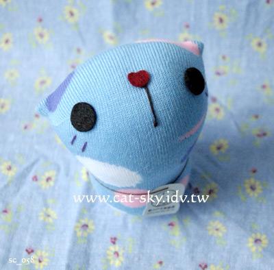 呆呆貓-藍粉圓
