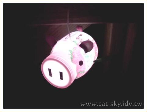 用巧克力手機拍的小豬燈籠