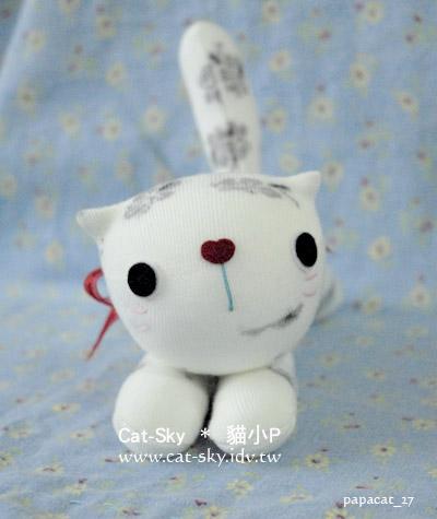 趴趴貓-白花花