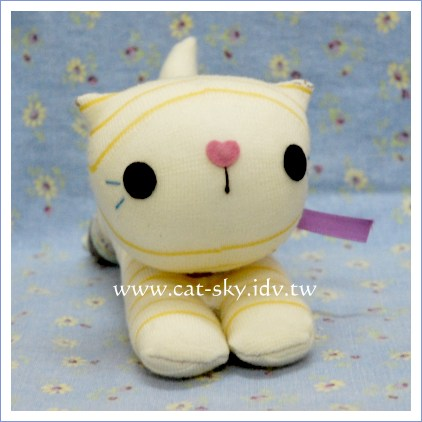 襪子貓娃娃- 黃趴趴小可愛