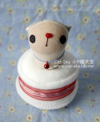 小P的貓手作-小拿鐵蛋糕音樂盒