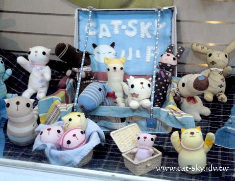貓小P襪子娃娃作品展-中和社大-南山藝廊櫥窗