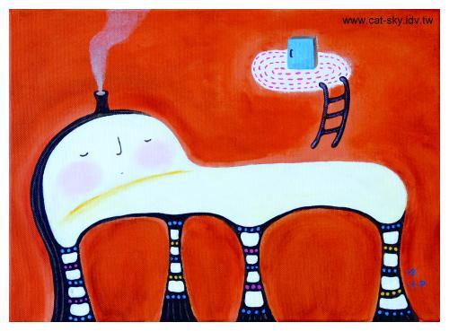 安娜床上之島-貓小P作品-記憶如煙般飄浮