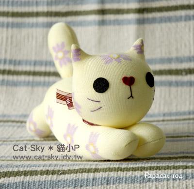 趴趴貓 - 粉黃粉紫花