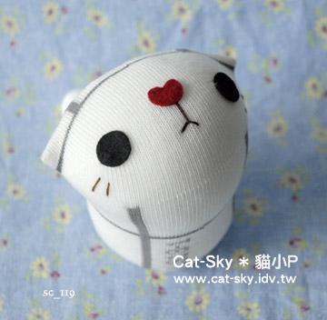 lovelycat呆呆貓-白-格子