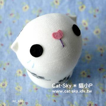 lovelycat呆呆貓-白-粉紅鼻小草