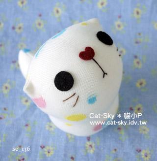 cat-sky呆呆貓-白泡泡X 紅鼻子