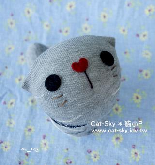 cat-sky 呆呆貓 - 灰 黑白格子