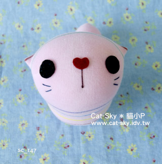 cat-sky 呆呆貓 -粉紅條紋