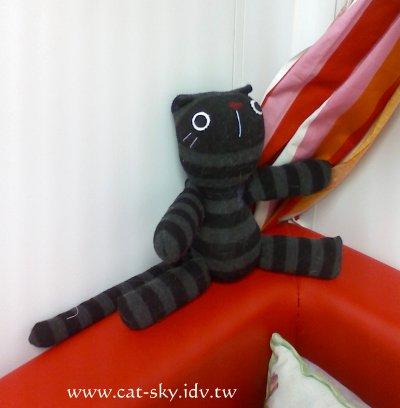 貓小P貓咪襪子娃娃-黑貓