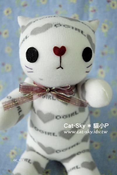 catsky-元氣貓 小白