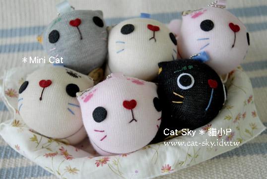 貓小P手工貓咪娃娃-MinaCat拎小貓系列