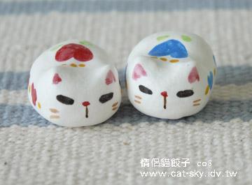 限量手工情侶貓餃子-c08-心花花情侶貓餃子