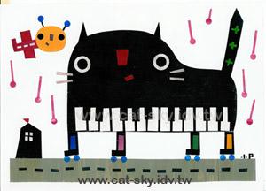 貓小P的貓繪本-鋼琴貓請敲我一下!