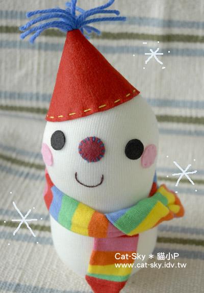 貓小P的雪人襪子娃娃