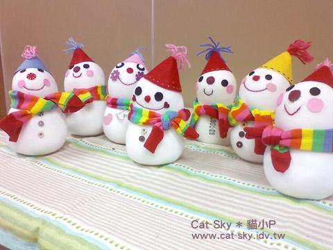 文大推廣部-私の聖誕物語系列手作課程-貓小P雪人娃娃課程學員們的雪人娃娃大集合!