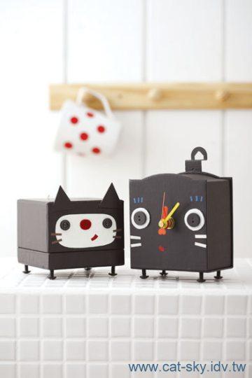 貓手作- 黑貓時鐘& 収納盒