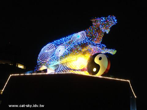 閃亮亮的牛花燈