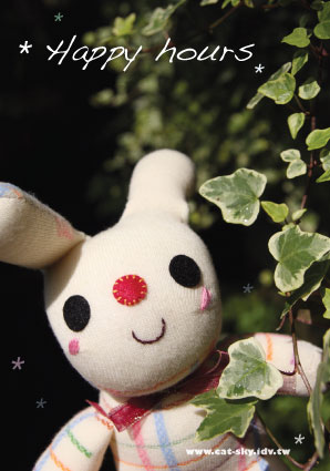 可愛小兔 明信片