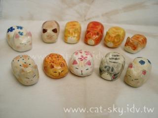 小P 親手捏做繪製貓餃子