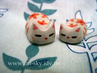 橘色小花 貓姐妹