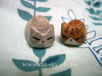 灰毛賓士貓& 紅虎斑貓