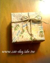 地圖包裝小禮盒-小p製作