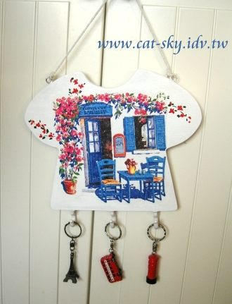 餐巾紙的鑰匙掛-小p製作