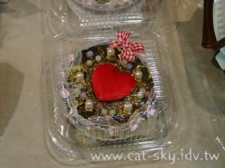 不織布做的巧克力蛋糕.